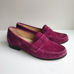 Cole Haan Magenta Suede Loafers Size 6
